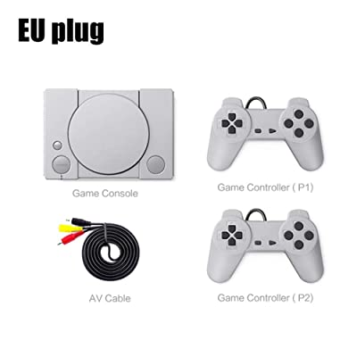 rowna Mini Game Console, Classic Game Console 8-bit PS1 Mini Home 620 Action Game Enthusiast Entertainment System Retro Double Battle Game Console, for Frends: Home & Kitchen