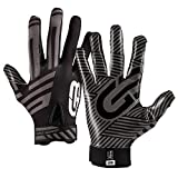 Grip Boost G-Force Football Gloves Youth and Adult Sizes (Black, Medium)