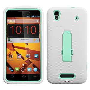 ASMYNA Sky Blue/White Symbiosis Stand Protector Cover for ZTE N9520 (Max)