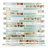 #6: Cocotik Self Adhesive 3D Wall Tile Peel and Stick Backsplash for Kitchen , 10.5