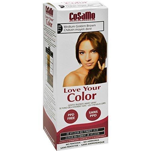 CoSaMo Hair Color 778 Medium Golden Brown (3 Pack)