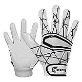 Cutters Gloves Adult Lead Off 2.0 Batting Gloves, White/Black, Medium