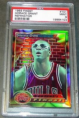 Horace Shorts - 1993 Horace Grant Finest Refractor Short Print #101 PSA Mint 9 POP 1/2