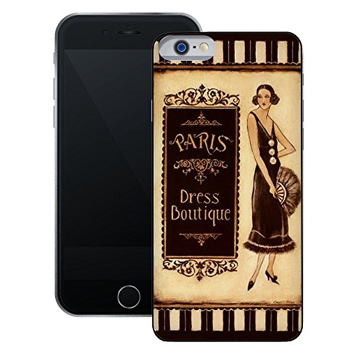Paris Kleid Boutique | Handgefertigt | iPhone 6 6s (4,7') | Schwarze Hülle