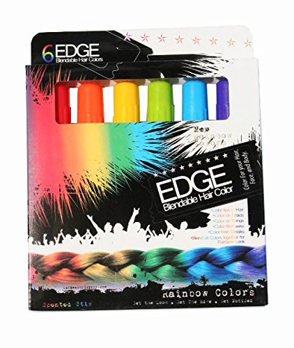 (Scented Hair Chalk Rainbow Blendable Color Chalk Edge Hair Stix |Scented | New Twist Tube Technology No Mess | 80 Applications)