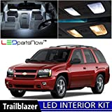 LEDpartsNow Chevy Trailblazer 2002-2009 Xenon White Premium LED Interior Lights Package Kit (16 Pieces) + Install Tool