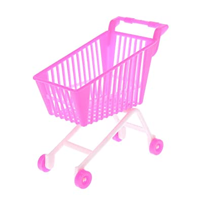 shuoyiersty Simulation Doll Supermarket Shopping Cart, Storage Hand Truck Pretend Toys Dollhouse Trolley for Kids Children Gifts: Home & Kitchen