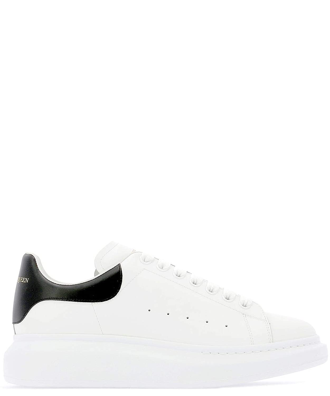 - Alexander McQueen Men's 553680WHGP59061 White Leather Sneakers