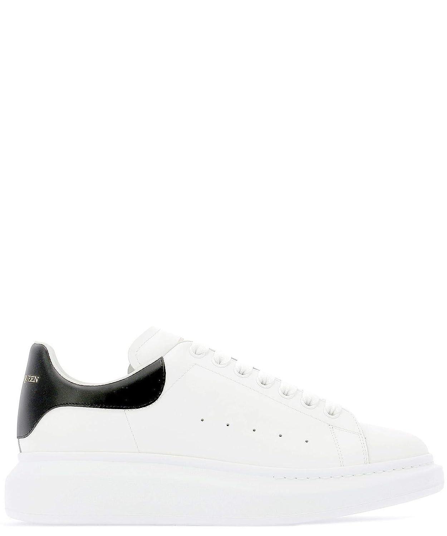 - Alexander McQueen Men's 553680WHGP59061 White Leather Sneakers