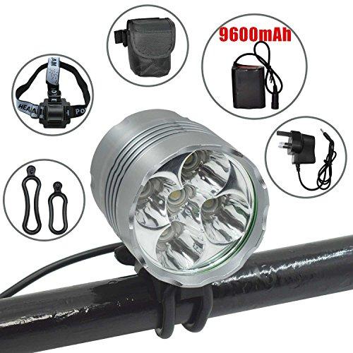 LED Bike Light Set, Wasafire 6000 Lumen Rechargeable Bicycle Light, Super...