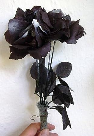 Schwarze Rosen Rosenbouquet Strauß schwarz Gothic Blumen Bouquet