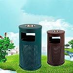 AKONTR-Basura-y-Reciclaje-Papeleras-Bote-de-Basura-cilindrica-al-Aire-Libre-con-cenicero-y-Cubo-Interior-contenedor-de-Almacenamiento-de-diseno-Hueco-para-Uso-Industrial-Comercial-Cubos-de-Basura