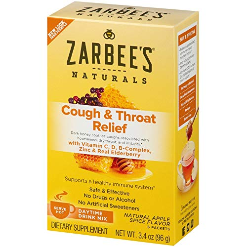 Zarbee's Naturals Cough and Throat Adult Daytime Drink Apple Spice 6 Count
