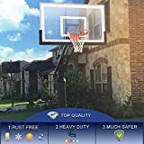 "katop in-Ground Basketball Hoop,Adjustable Basketball Goal Hoop with 54"" Glass Backboard System for Adults Outdoor Basketball"