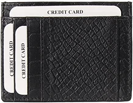AzraJamil Premium Finished Men's Genuine Leather Minimalist Wallet for Credit Cards and Note Holder