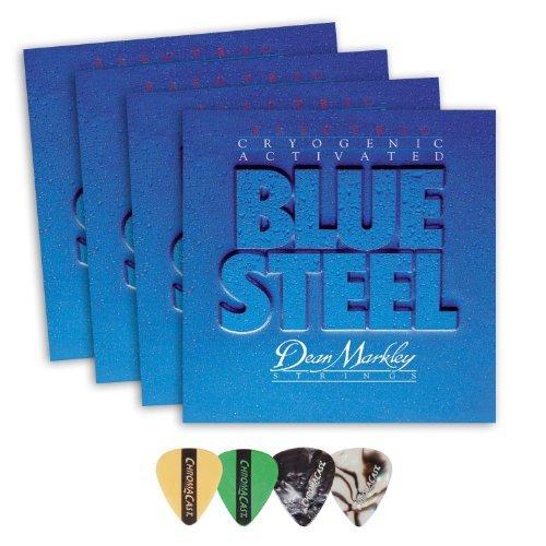 Dean Markley 2552 Blue Steel LT Electric Guitar Strings 4-Pack (0.009-.042) Includes Guitar Picks