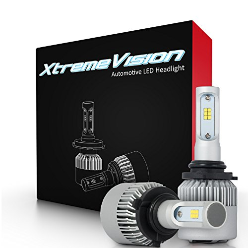 XtremeVision 7G 72W 16,000LM - 9006 LED Headlight Conversion Kit - 6500K CSP LED - 2017 Model (Led Headlights 05 Silverado compare prices)