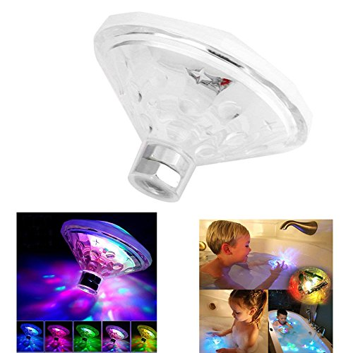 Swimming Pool lights LED Underwater Light Show, Changing Bath Light Toys for Kids(7 Lighting Modes), RGB Waterproof Lightning Bulb Lamp Bath Toy, Colorful Floating Lights for Party