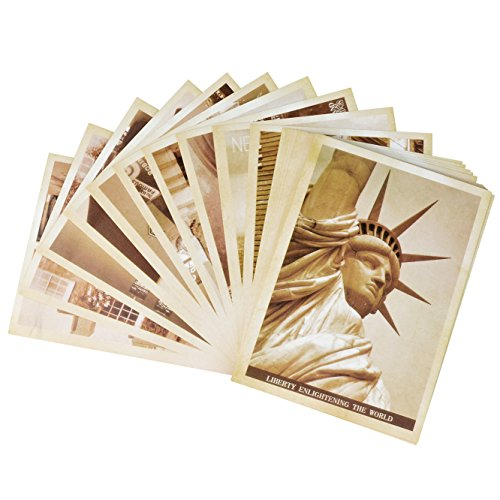 Dxhycc 32 PCS 1 Set Vintage Retro Old Travel Postcards for Worth Collecting - Luggage Favor Box