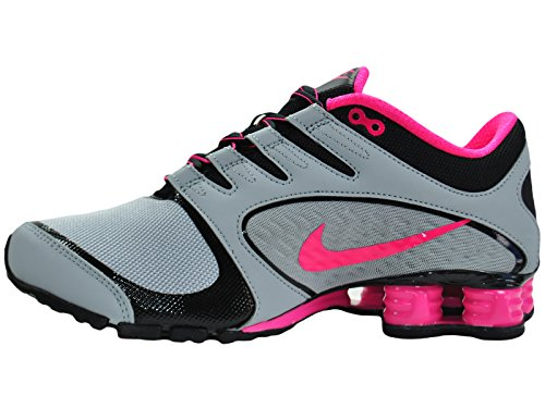 check out 83a17 ef5ac NIKE Women s Shox Vaeda Wolf Grey Vivid Pink Black Synthetic Running Shoes  8 M