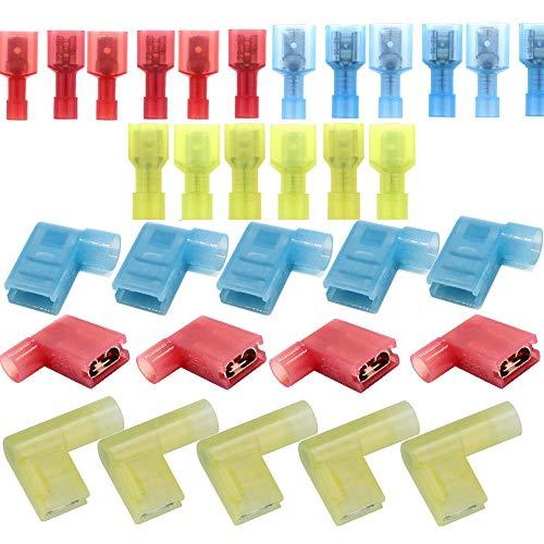 SaferCCTV 22-16 Nylon Flag Spade Connector,1/4