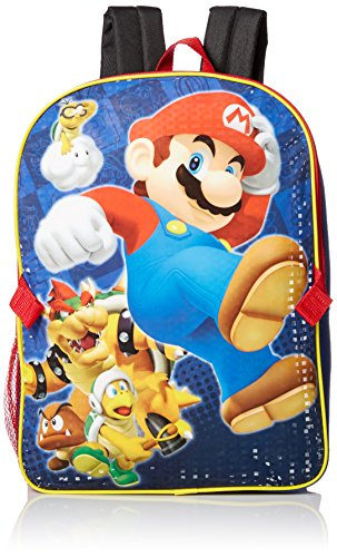 Nintendo Little Boys Mario Backpack with Lunch, Blue, One Size - Wii Games For 7 Year Old Boys