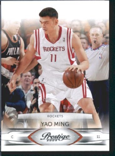 2009 /10 Panini Prestige Basketball Card # 34 Yao Ming Houston Rockets Mint Condition- Shipped In Protective Screwdown Display - Rockets Condition Mint