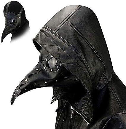 HUOQILIN Máscara de Halloween Máscara de Halloween de Miedo Doctor de la Plaga de Steampunk Accesorios del Traje de Cuero for Adultos Fiesta de Halloween Carnaval XUAGMT