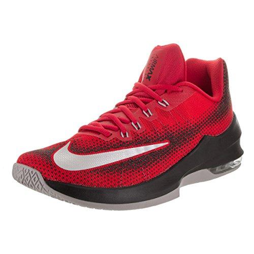 86b25f9674 Galleon - Nike Mens Air Max Infuriate Low University Red White Black  Basketball Shoe 10 Men US