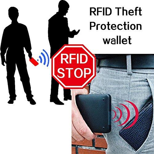 Zsr Identification Rfid Brown Carta Corto haohai magnetico Nuovo Uomo radio Portafoglio Anti Anti Frequency rnrHR8A