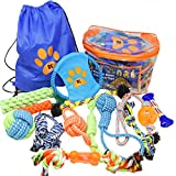 Dog Rope Toys for Small and Medium Dogs - Set of 13 Chew