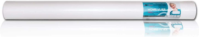 Fibre de r/énovation /à peindre intiss/é lisse 130 g Profhome HomeVlies 399-135 rev/êtement de lissage Papier peint intiss/é blanc 1 rouleau 25 m2