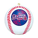 MLB Atlanta Braves Mini Replica Baseball Ornament