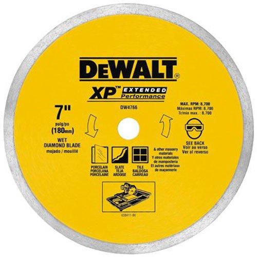 DEWALT DW4766 7-Inch by .060-Inch Porclean Tile Blade Wet Dewalt Porcelain Tile Saw