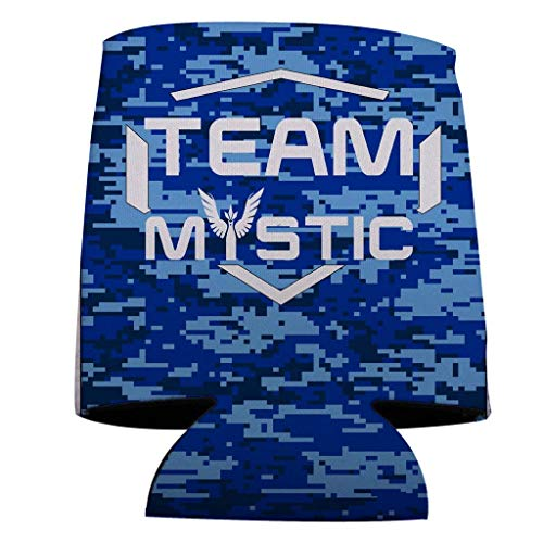 VictoryStore Can and Beverage Coolers - Team Mystic, Blue Camo Design, Set of 6