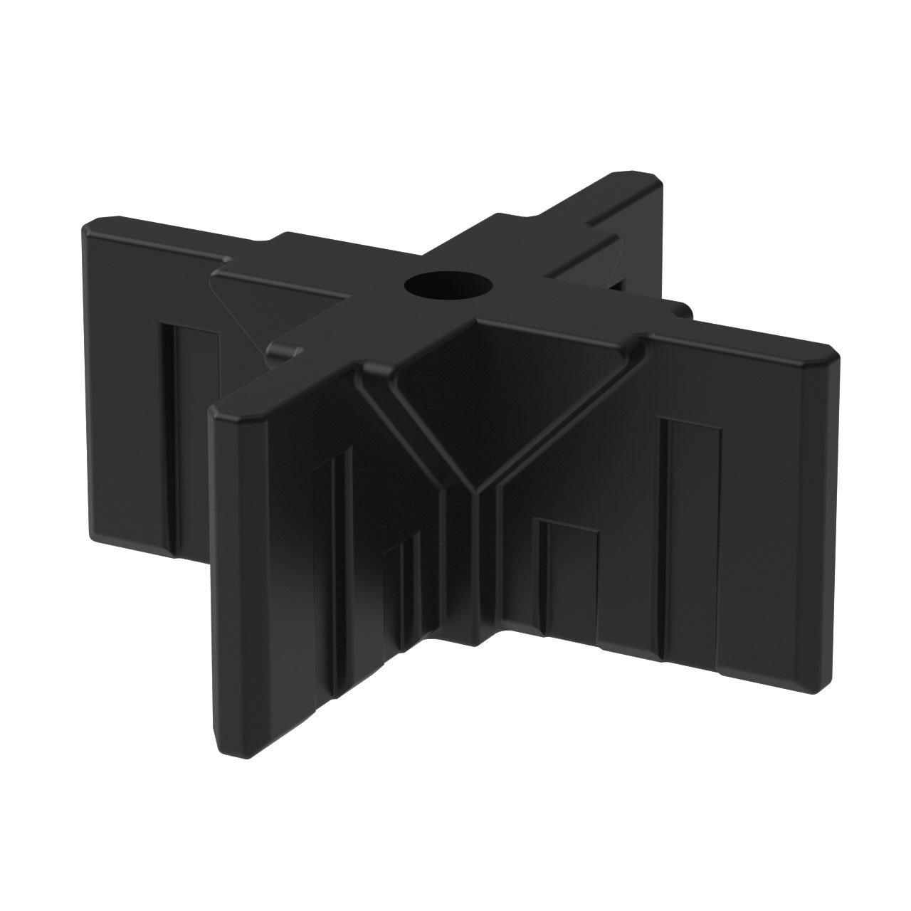 GOGO Panels - CX2B - Cream White - Top 4-Way Connector