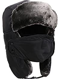 Winter Outdoors Faux Fur Waterproof Trooper Hat w/ Mask