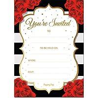 30 Invitations with Envelopes - Bridal Shower Invitations, Wedding Shower Invitations, Bachelorette Party Invitations, Birthday Invitations
