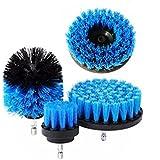 4Pcs Drill Brush Kit Grout Power Scrubber Cleaning Brush Tub Cleaner Combo Tool Kit