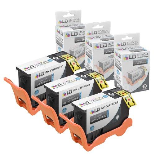 Compatible Lexmark 150XL / 14N1614 Set of 3 Black Inkjet Car