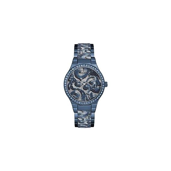 c9dd1a0a9305 Guess Reloj Analógico para Mujer de Cuarzo con Correa en Acero Inoxidable  W0843L2  Amazon.es  Relojes
