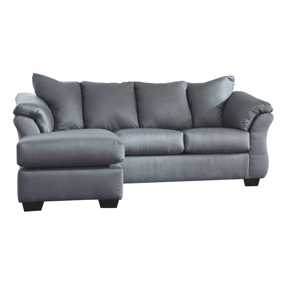 Signature Design by Ashley 7500918 Darcy Sofa Chaise, Steel