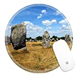 Luxlady Round Gaming Mousepad Megalithic monuments in Carnac France IMAGE ID 5957293