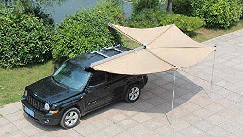 DANCHEL OUTDOOR 270 Degree Sector Shaped car Side foxwing Awning (Khaki, Dia. 8.2ft Left) by DANCHEL OUTDOOR (Image #3)