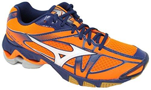 Mizuno Zapatillas Voleibol Hombre–Wave Bolt 6MD–v1ga1765–�?2–orangeclownfish/White/bluedepths-46.5