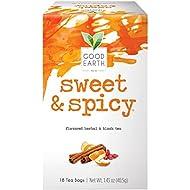 Good Earth Herbal & Black Tea, Sweet & Spicy, 18 Count Tea Bags (Pack of 6) (Packaging May Vary)