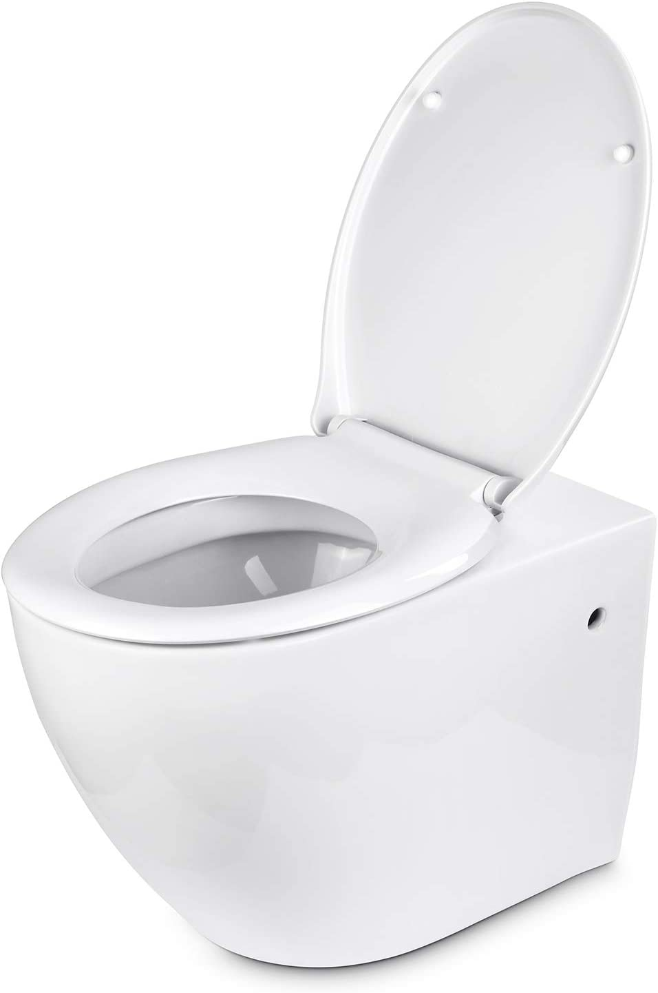 WC Sitz aus Polypropylene // Wei/ß Klodeckel mit Soft-Close Funktion Toilettendeckel mit Absenkautomatik Amzdeal Toilettensitz O-Form