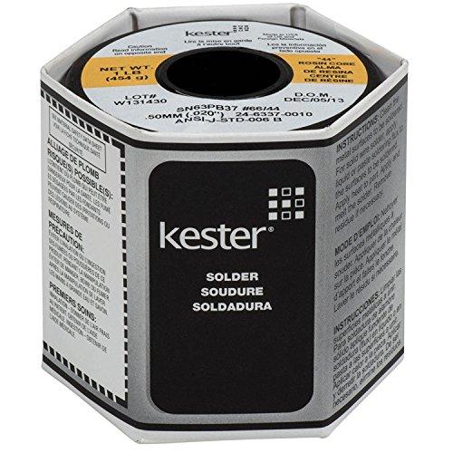 Kester 24-6337-0010 44 Rosin Core Solder 63/37 .020 1 lb. SPOOL
