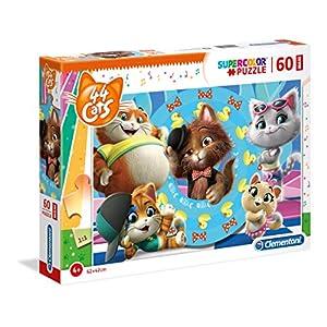 Clementoni Supercolor Puzzle 44 Gatti 60 Maxi Pezzi Multicolore 26441