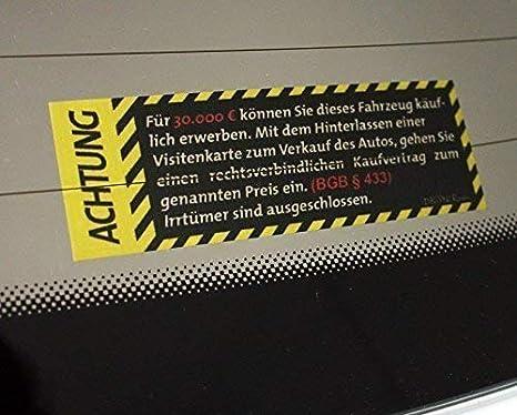 Dbspncr Autoverkauf Sticker Innen Aussen Kaufvertrag 30k 30 000 Autohändler Verkauf Aufkleber Jdm Dub Dubway Innenklebend